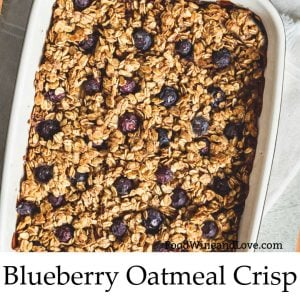 Blueberry Oatmeal Crisp