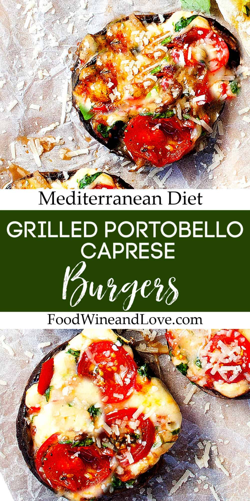 Grilled Portobello Caprese Burgers