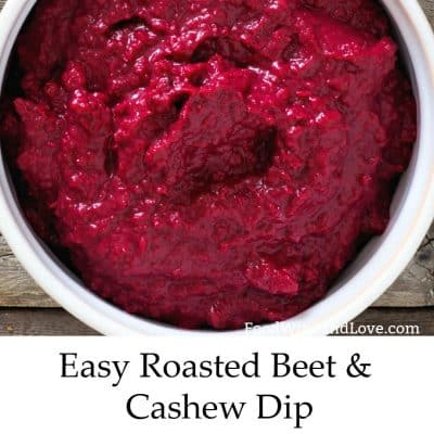 Easy Beet and Cashew Dip