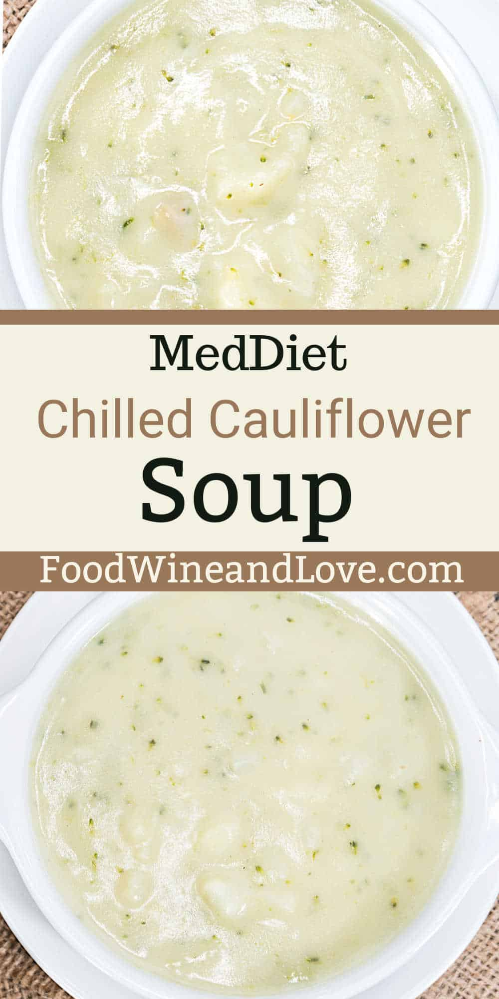 Simple Chilled Cauliflower Soup