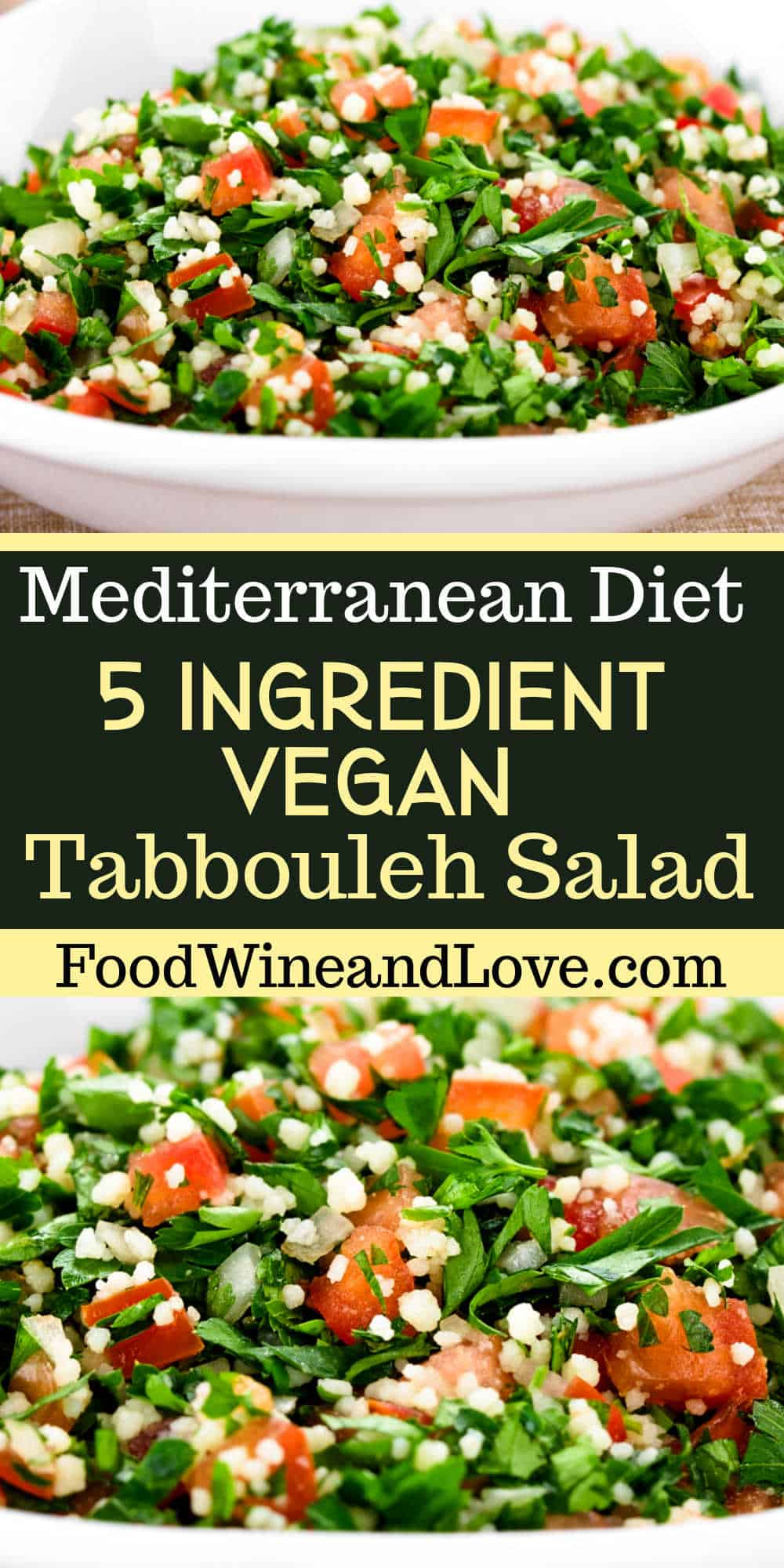 5 Ingredient Vegan Tabbouleh Salad