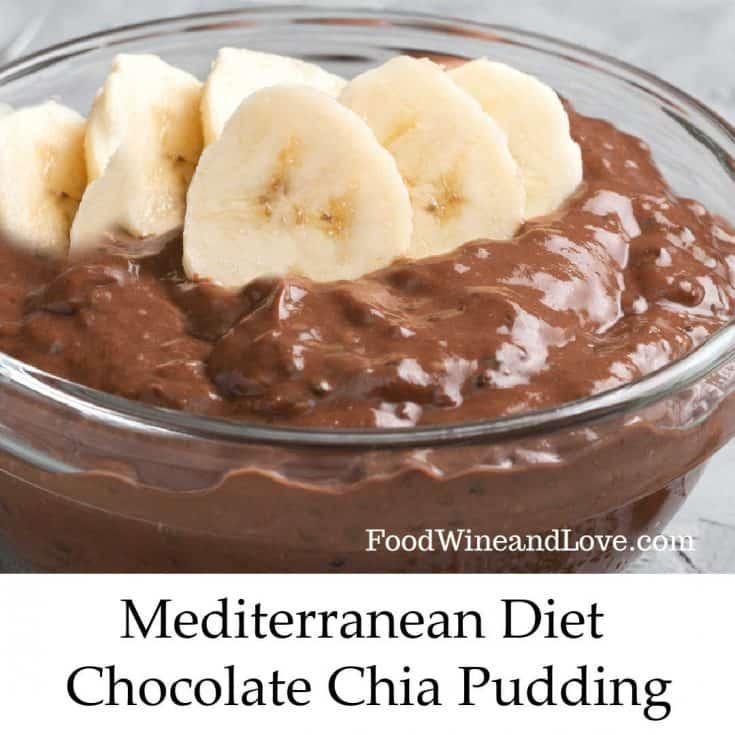 Mediterranean Diet Chocolate Chia Pudding