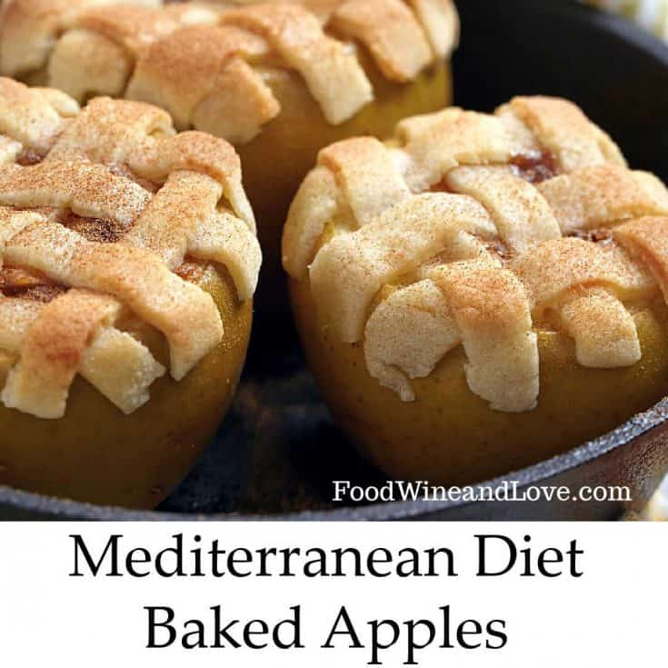Mediterranean Diet Baked Apple Pies