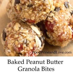 Baked Peanut Butter Granola Bites