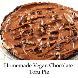Homemade Vegan Chocolate Tofu Pie