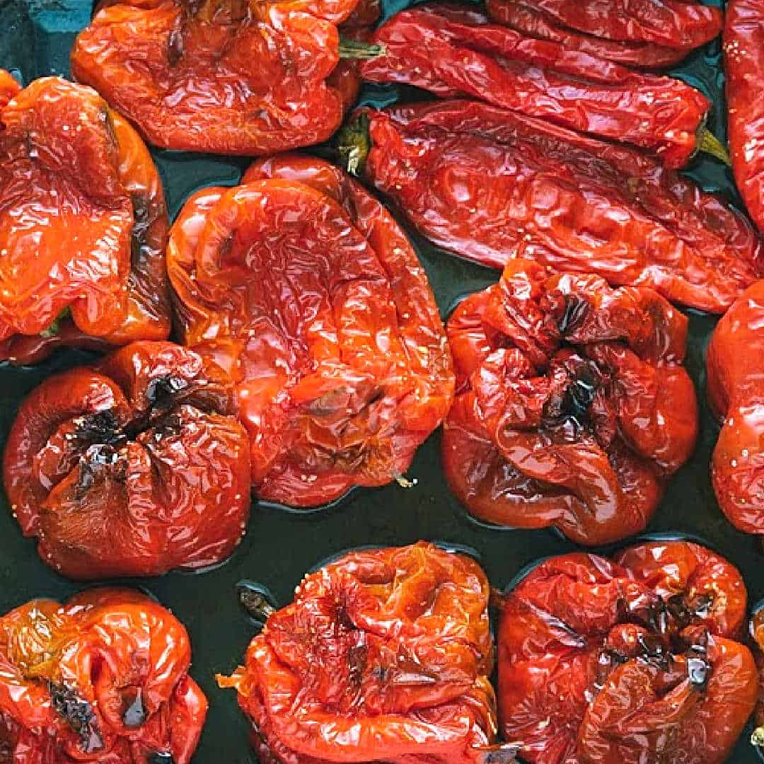 roast red peppers