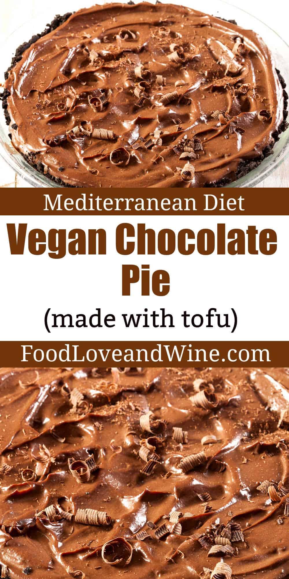 Homemade Vegan Chocolate Tofu Pie