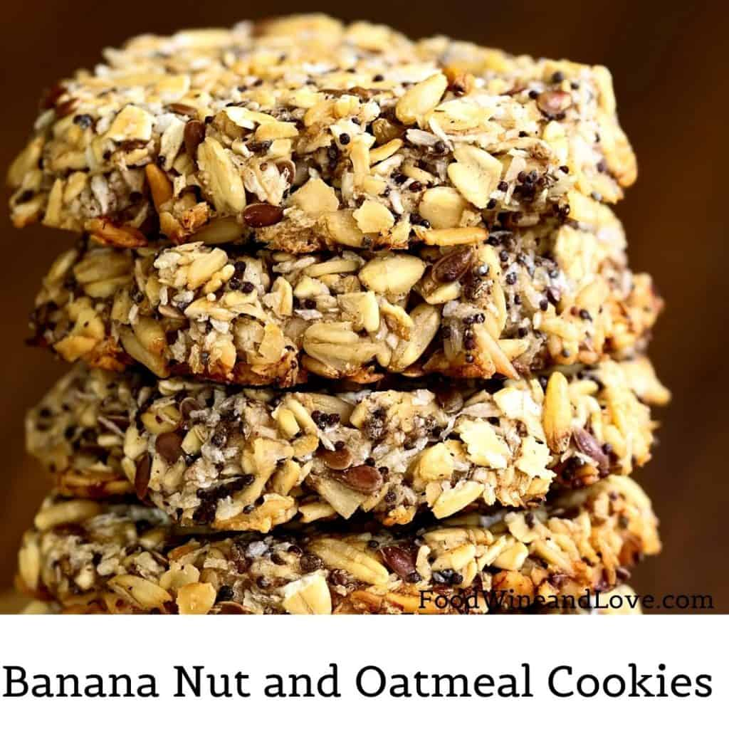 Banana Nut and Oatmeal Cookies