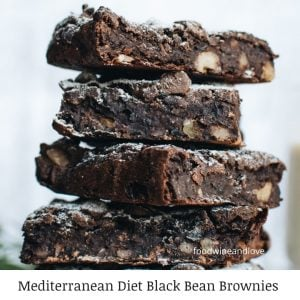 Mediterranean Diet Black Bean Brownies
