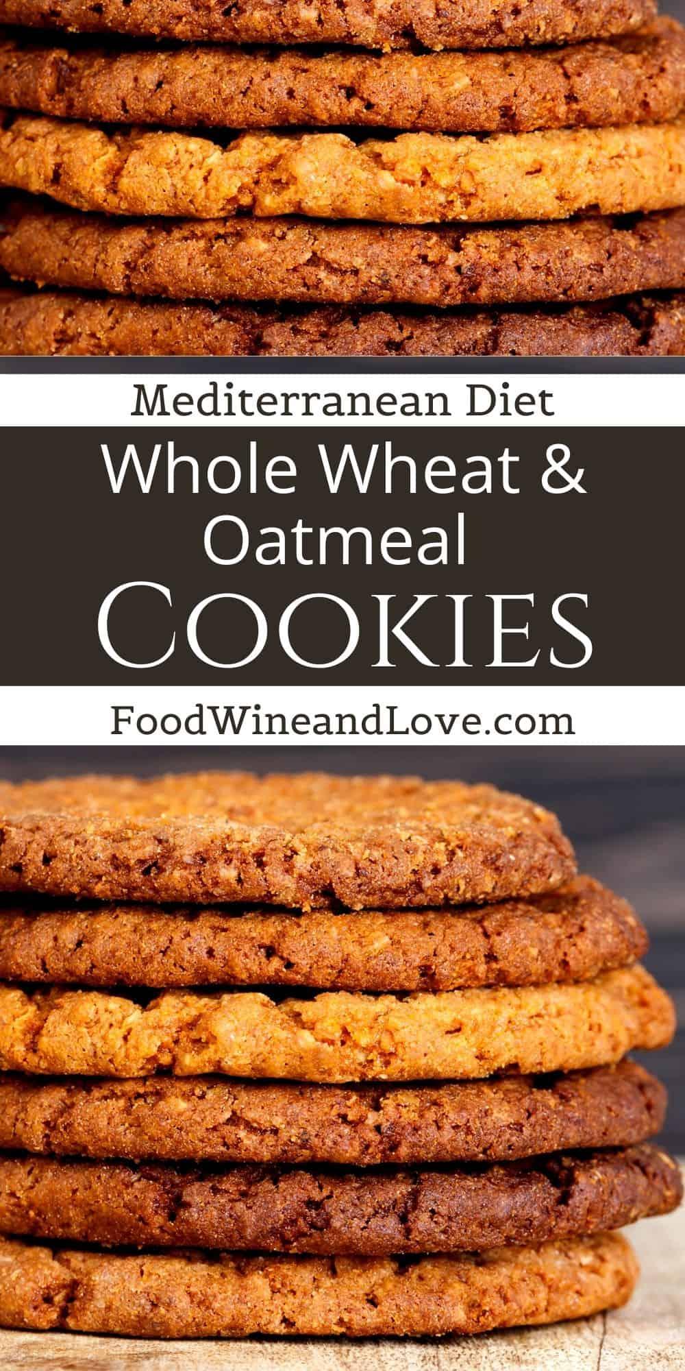 Whole Wheat Oatmeal Cookies