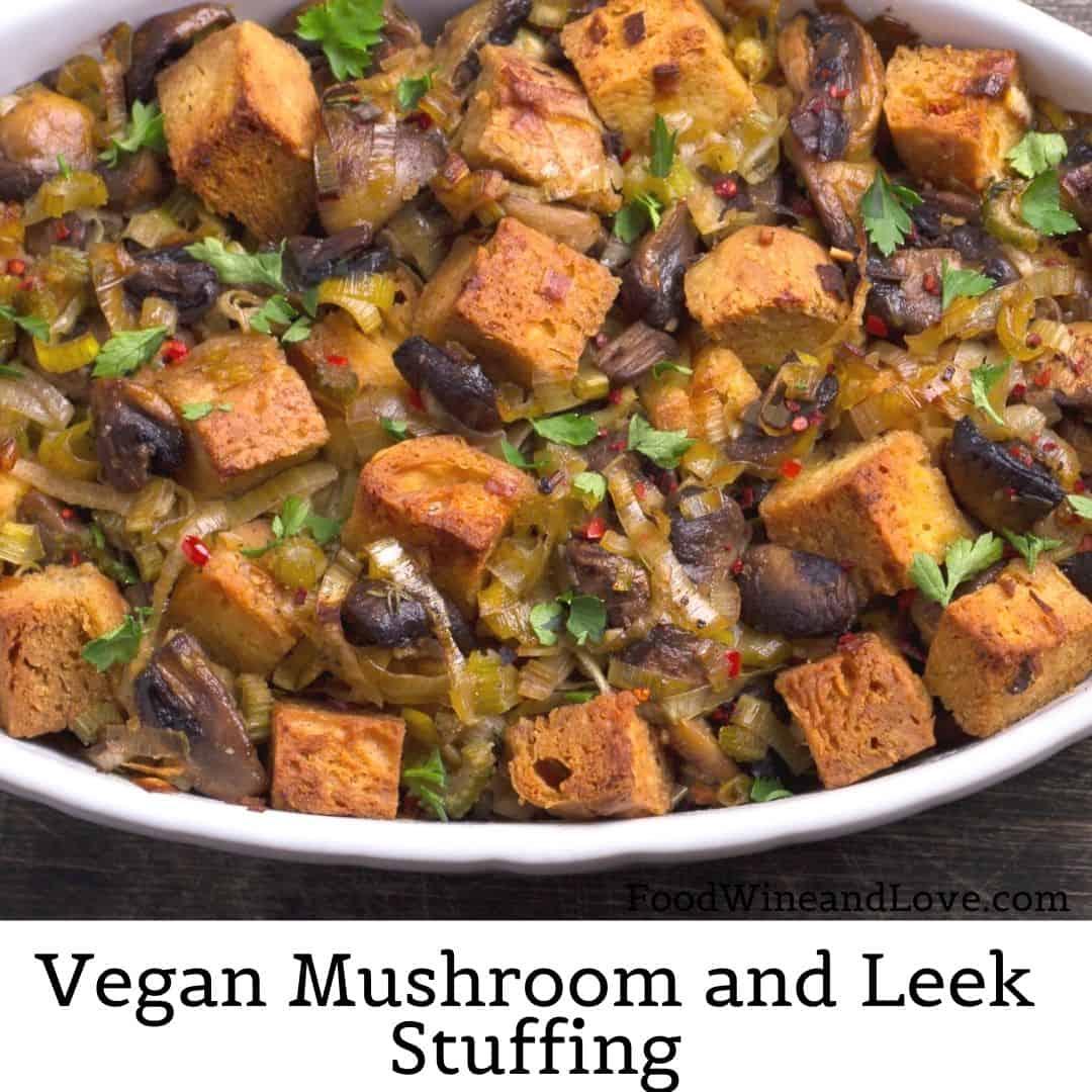 Low Fat Vegan Mushroom Stuffing