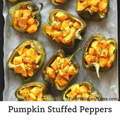 Vegan Pumpkin Stuffed Peppers