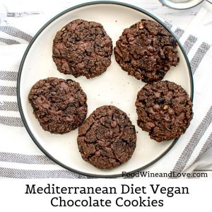 Mediterranean Diet Vegan Chocolate Cookies