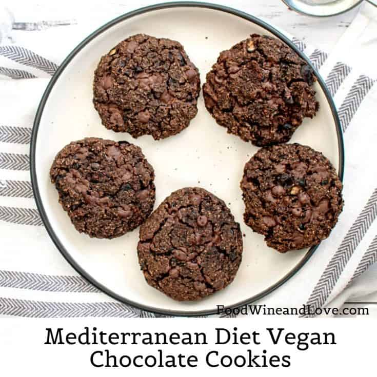 Mediterranean Diet Vegan Chocolate Cookies