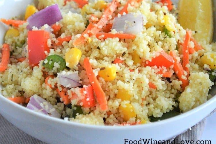 Mediterranean Diet Rainbow Couscous Salad