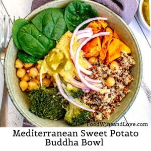 Mediterranean Sweet Potato Buddha Bowl