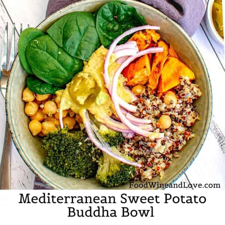 Mediterranean Sweet Potato Buddha Bowl