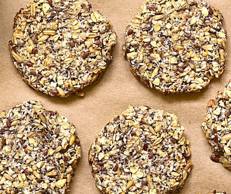 overhead oatmeal cookies