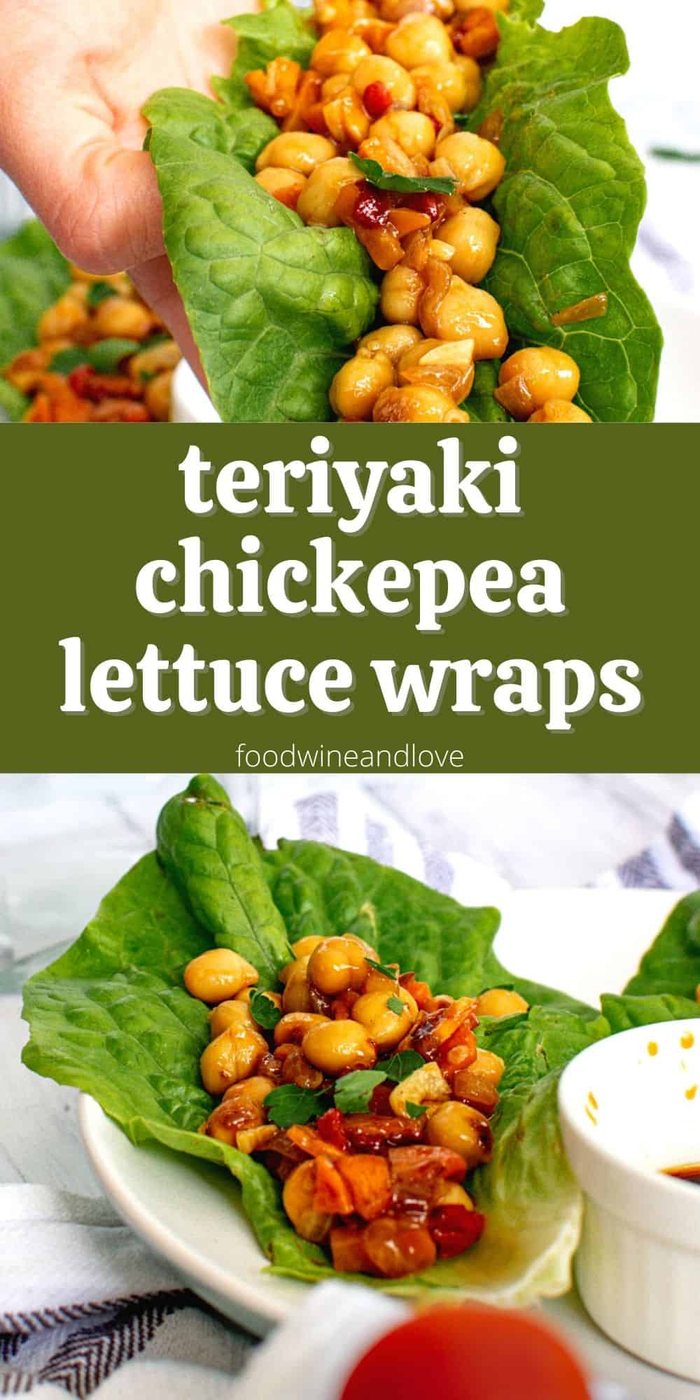 Teriyaki Chickpea Lettuce Wraps