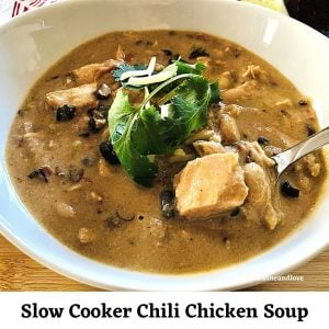 Slow Cooker Chili Chicken Soup
