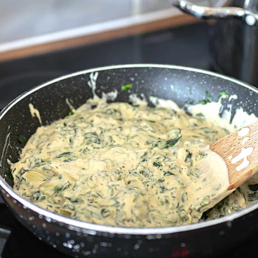 Creamy Vegan Pasta with Spinach and Artichokes , foodwineandlove.com