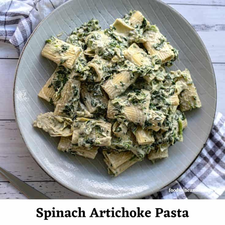 Spinach Artichoke Vegan Pasta
