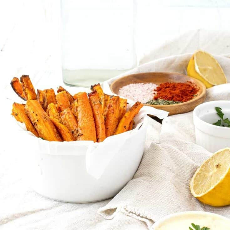 Spicy Air Fried Carrots