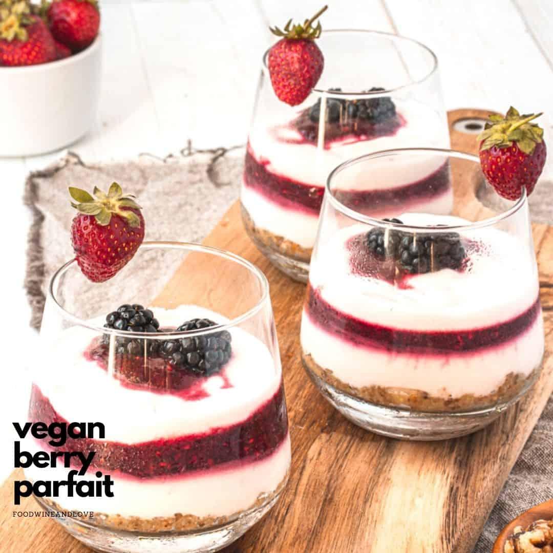 Vegan Yogurt Berry Parfait