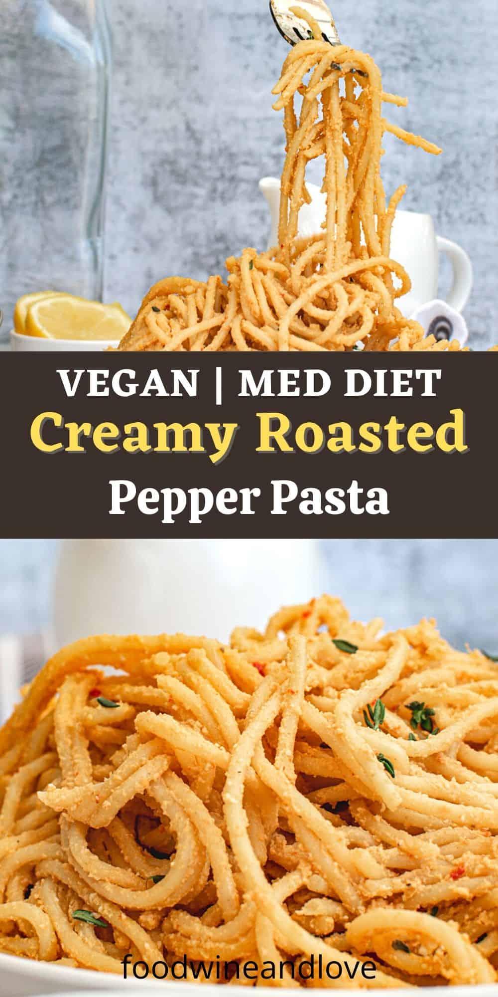Creamy Roasted Pepper Pasta