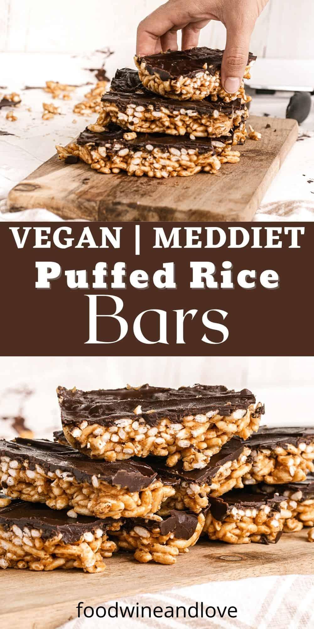 Vegan Puffed Rice Snack Bars