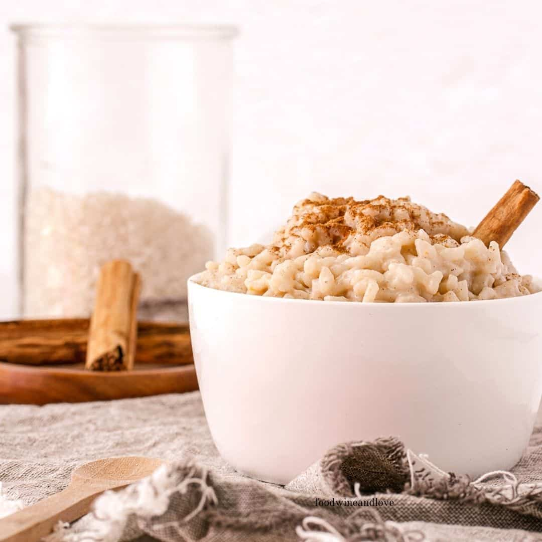 Easy Dairy Free Rice Pudding