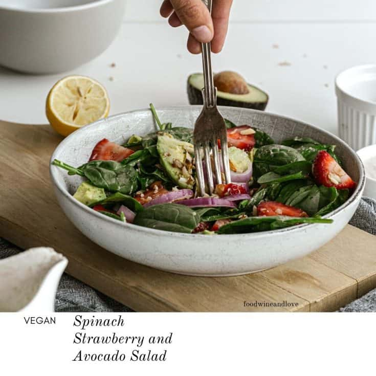 Spinach Strawberry and Avocado Salad