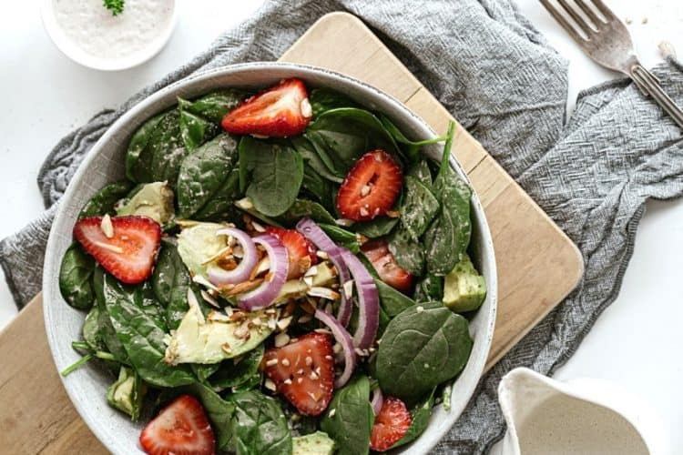 Spinach Strawberry and Avocado Salad