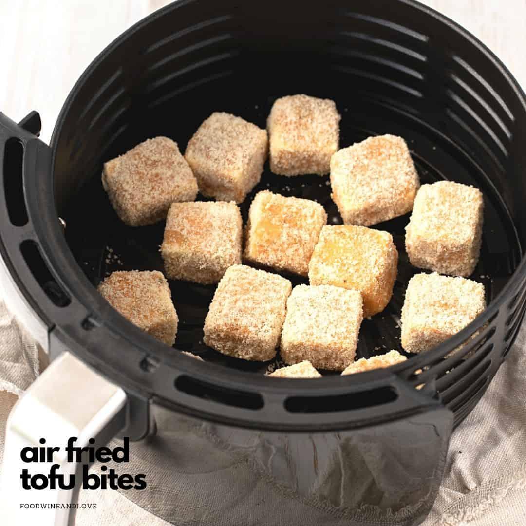 Air Fried Tofu Bites With Vegan Ranch
