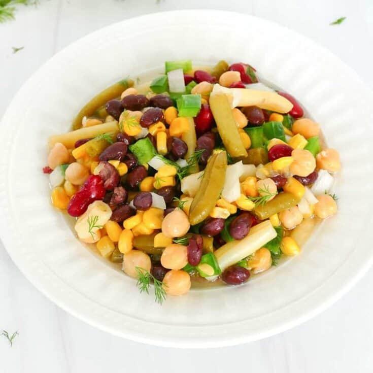 15 Minute 5 Bean Salad