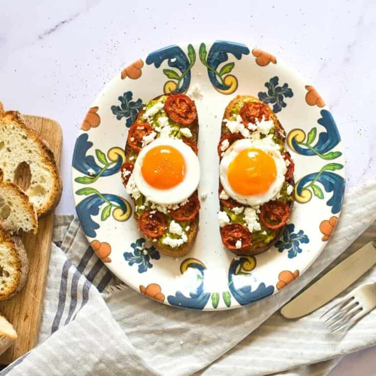 Avocado Breakfast Bruschetta