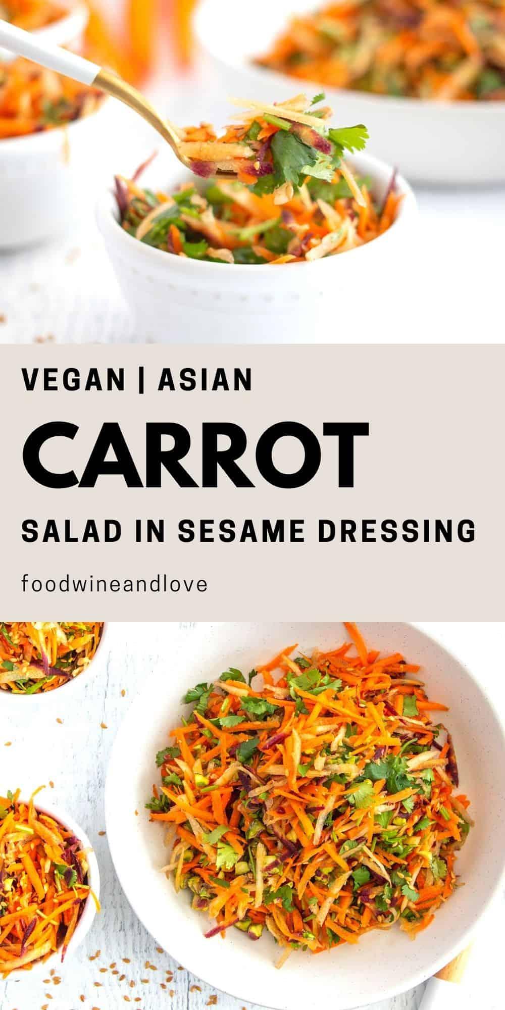 Asian Carrot Salad in Sesame Dressing