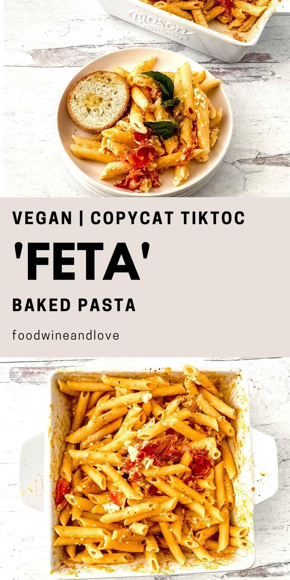 Baked Vegan Feta Pasta