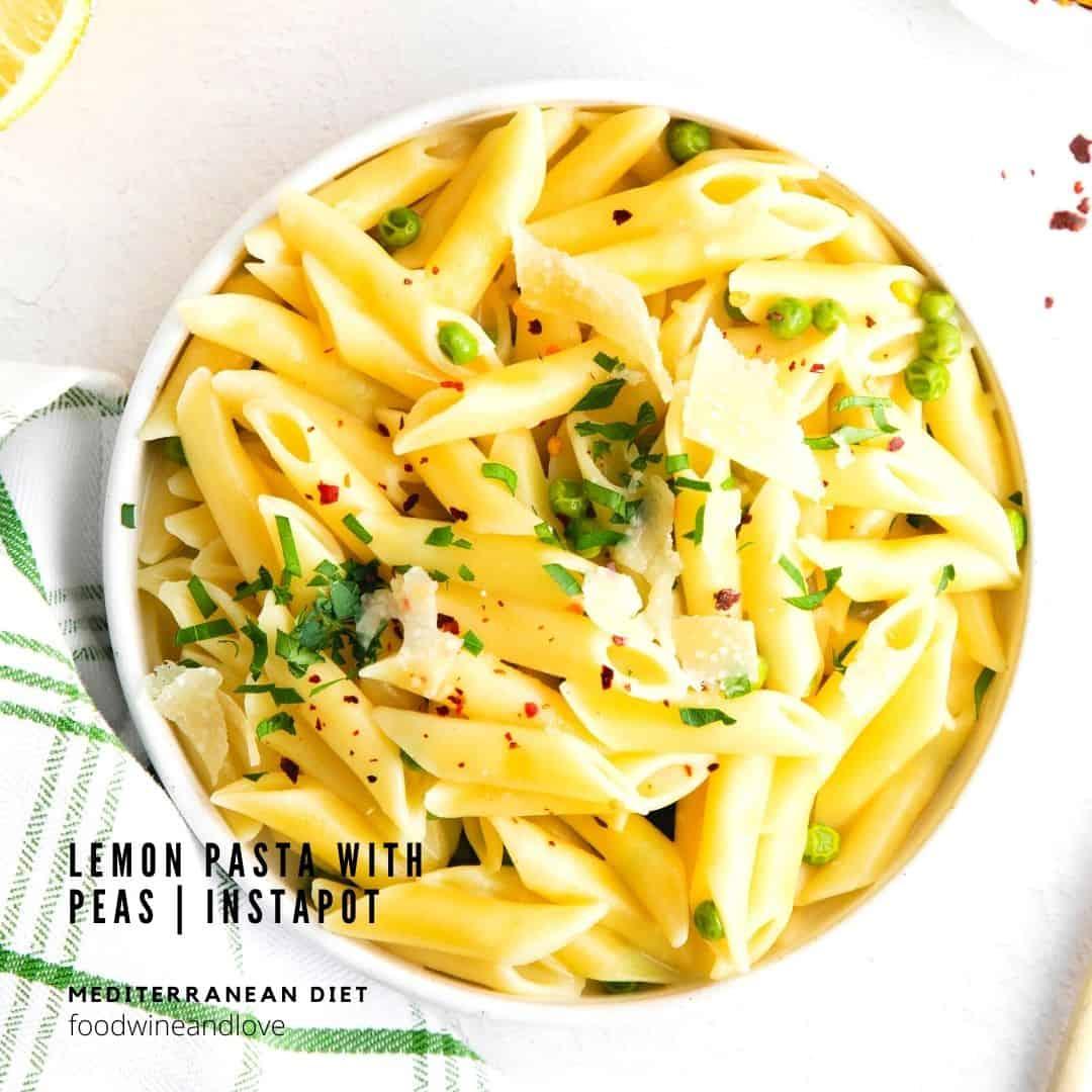 Instapot Lemon Pasta with Peas