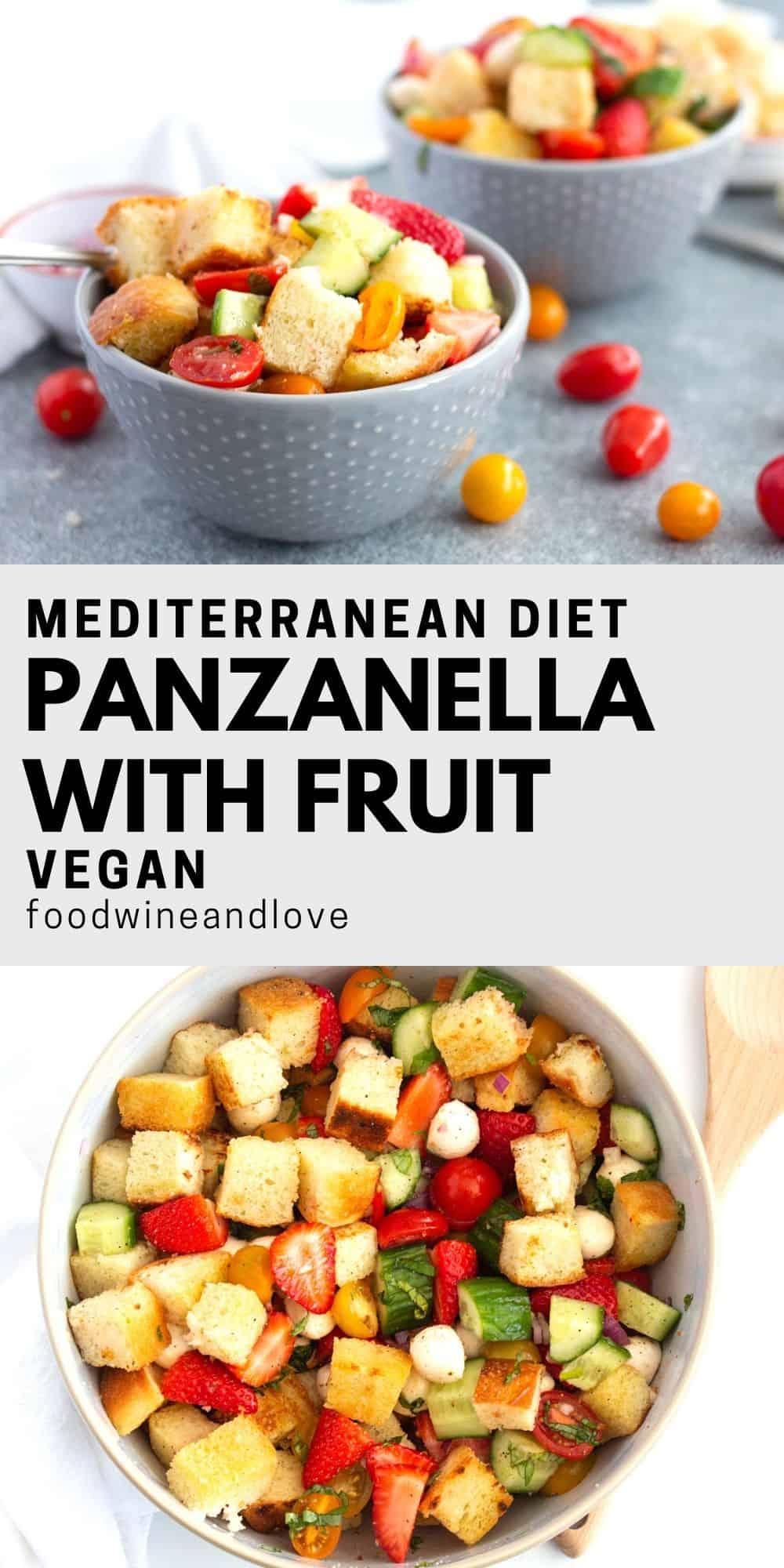 Mediterranean Diet Panzanella With Fruit