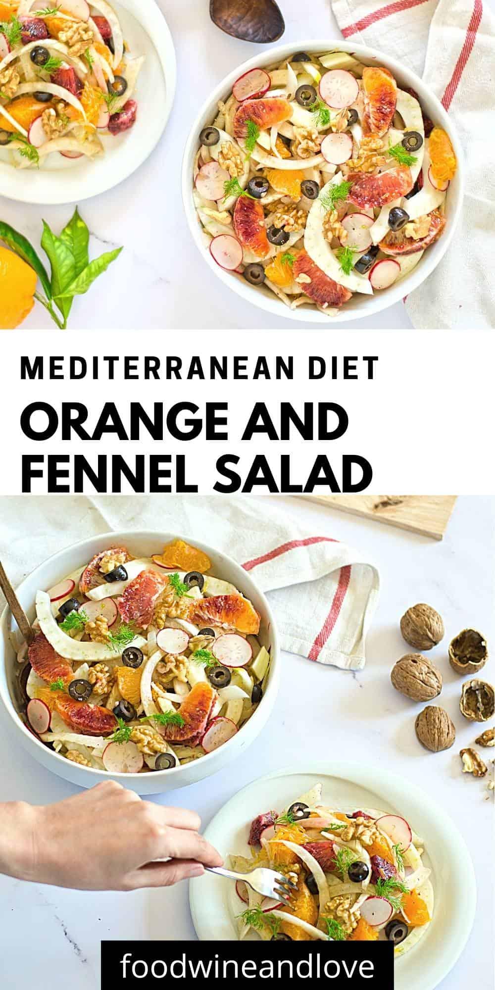 Mediterranean Diet Orange and Fennel Salad