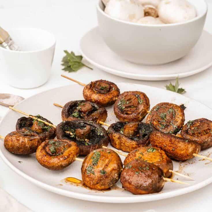 Easy Grilled Mushroom Skewers