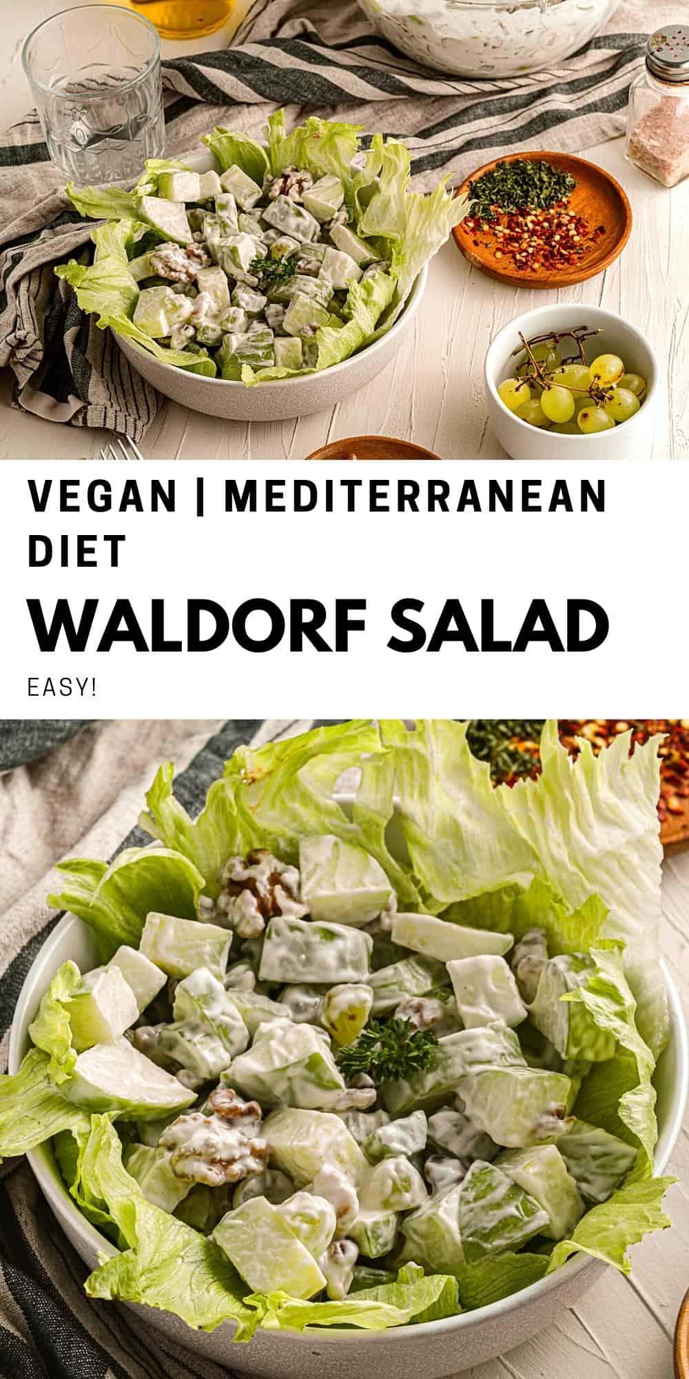 Mediterranean Diet Waldorf Salad