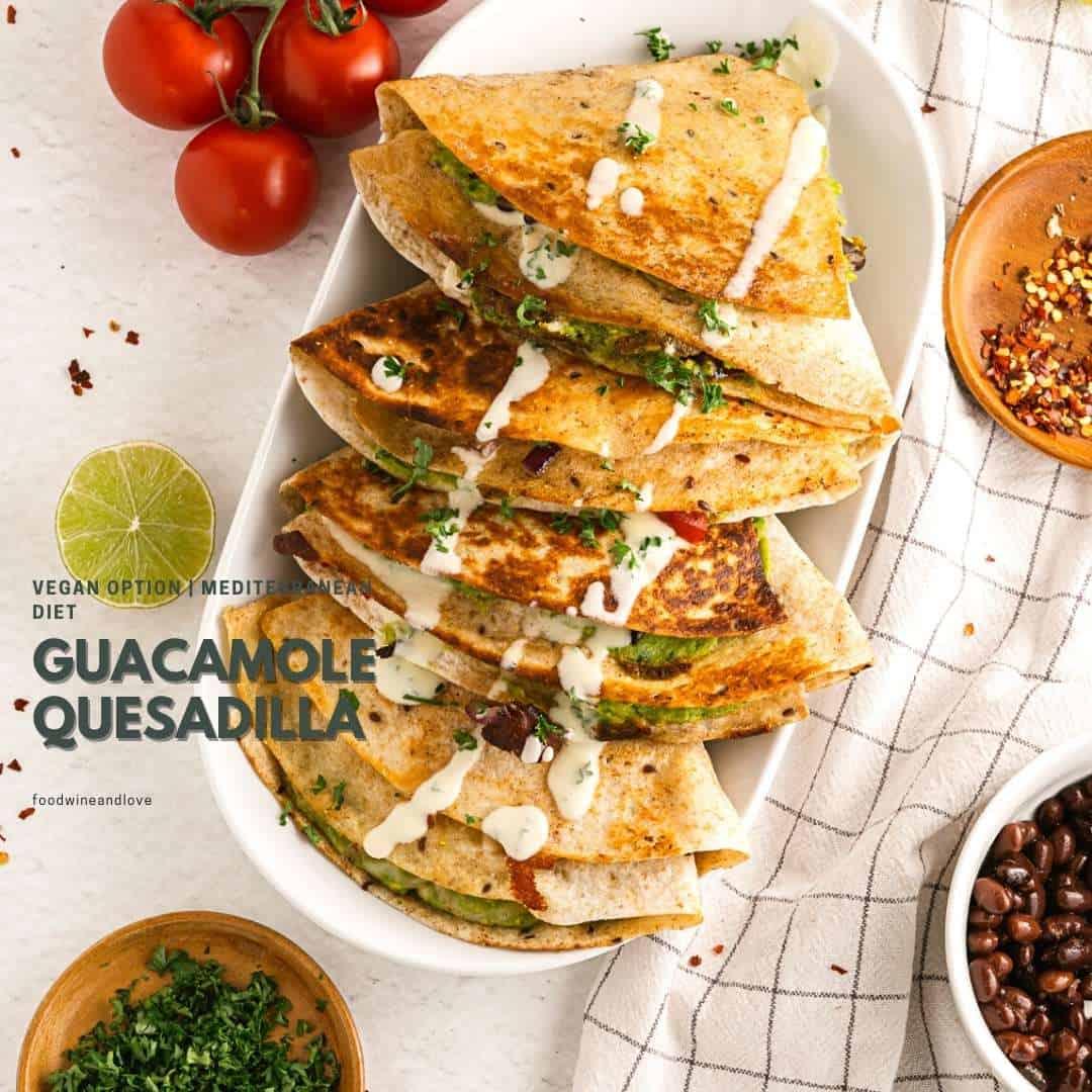Vegetarian Guacamole Quesadilla