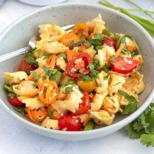 Tortellini Salad with Avocado Vinaigrette