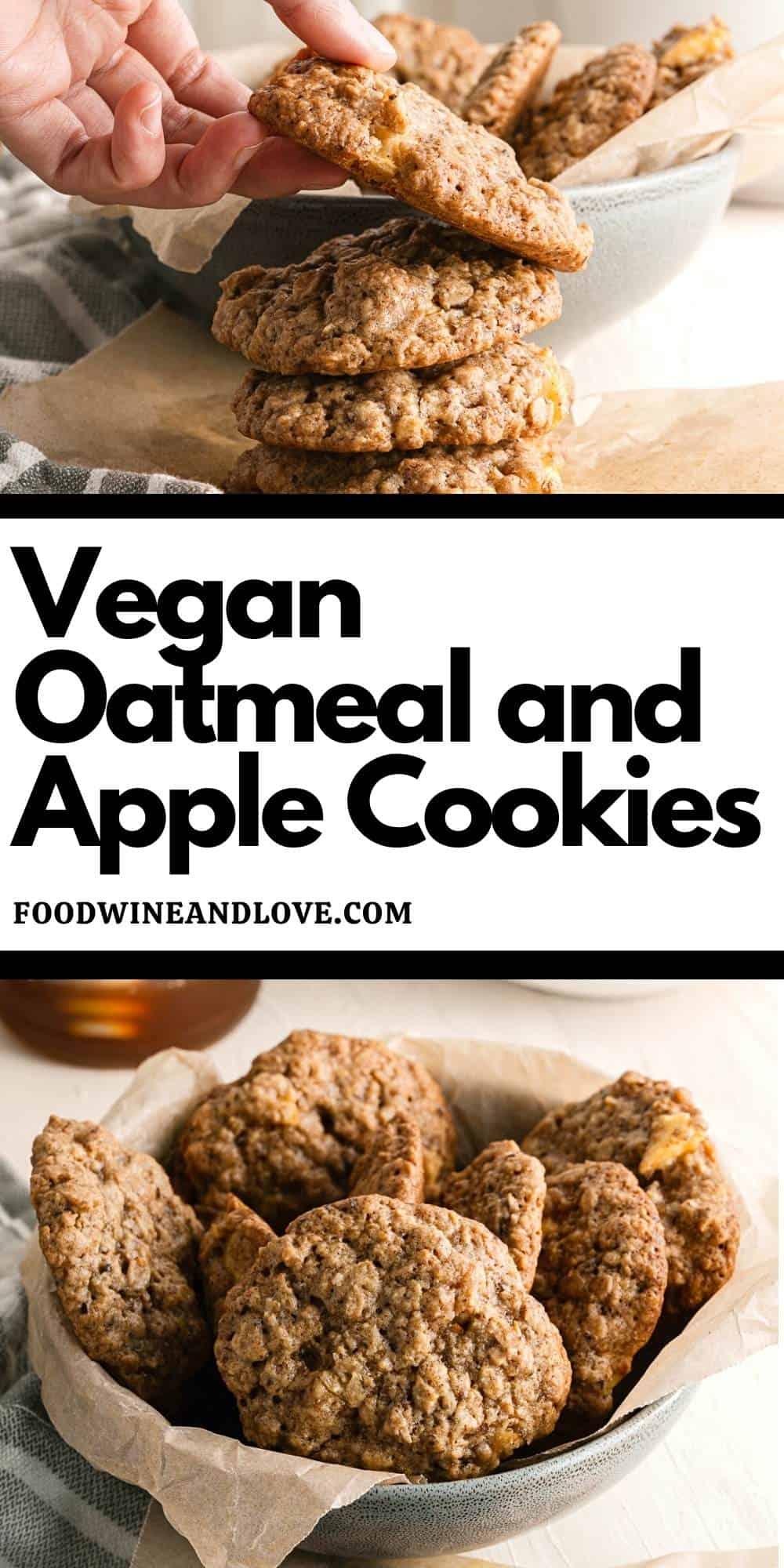 Vegan Oatmeal and Apple Cookies