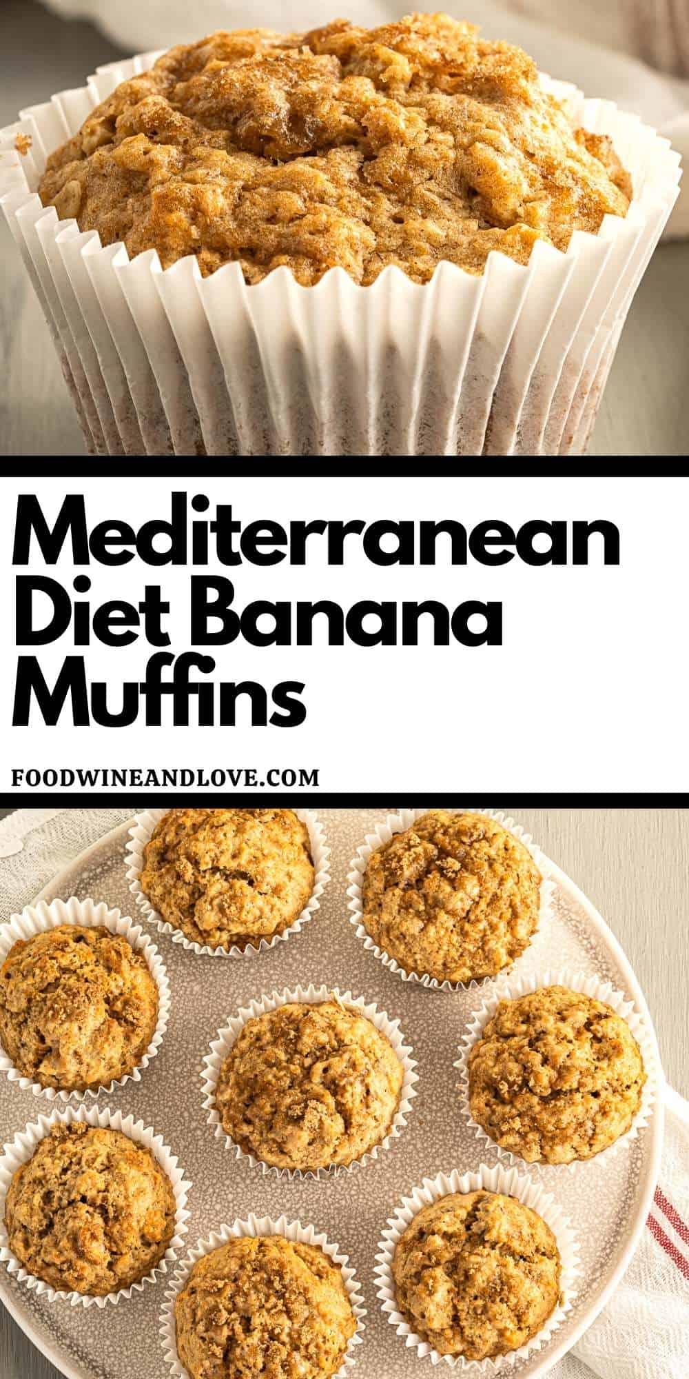 Mediterranean Diet Banana Muffins
