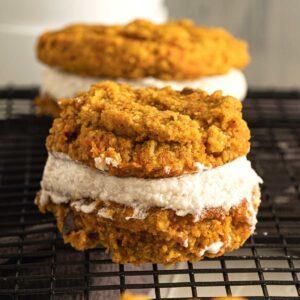 Vegan Carrot Cake Sandwich Cookies