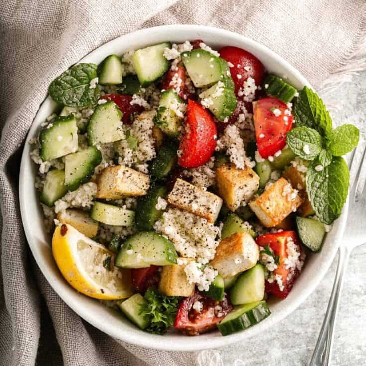 Vegan Couscous and Tofu Salad