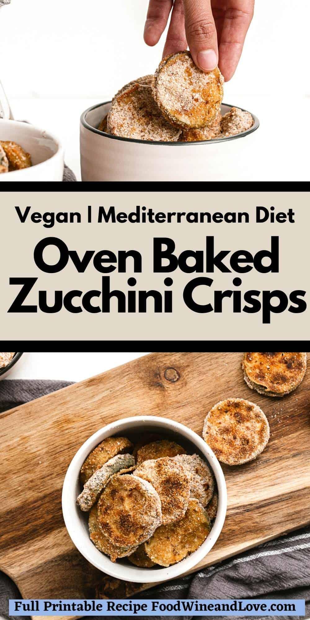 Oven Baked Zucchini Crisps